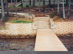 R-rap retaininge wall/stone steps