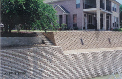 After R-rap retaining wall