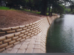 R-rap Retaining wall