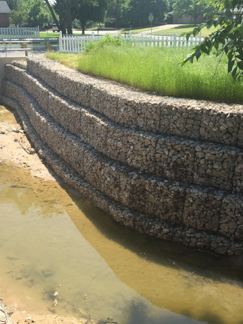 Gabion Wall in Creek