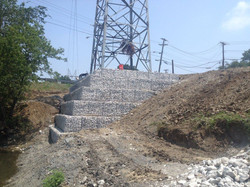 After Gabion Retaining wall