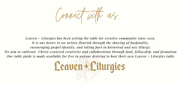 Leaven + Liturgies Website_ Welcome Page