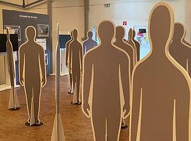 Pappfiguren aus der Ausstellung Die Grosse Illusion