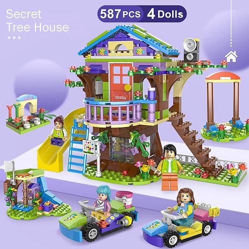 587pcs Building Blocks Mia Friendship Adventure Tree House Compatible