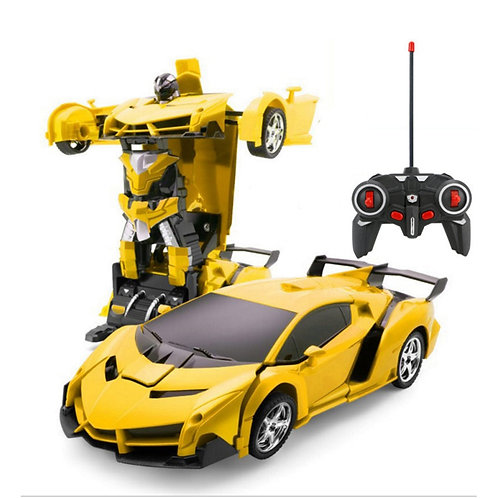 Hipac 1:14 RC Car Police Transformation Robots Vehicle Model Robots Toys