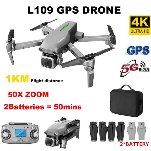 L109 RC Drone 4K Profissional Dron With Camera HD 5G WIFI FPV Drones GPS 1km RC