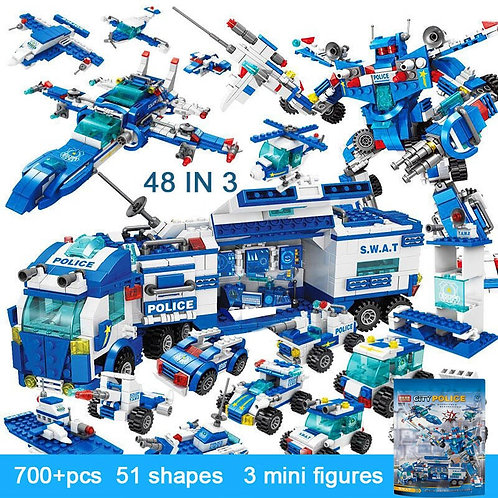 legoINGlys City Police Station Building Blocks Car Headquarters Blocks