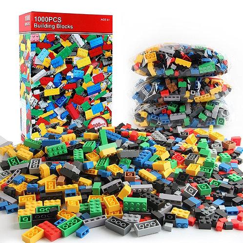1000 Pieces DIY Building Blocks Bulk Sets City Creative Classic Technic Creator