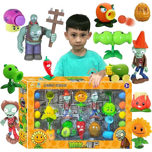 Large Genuine Plants vs. Zombie Toys 2 Complete Set of Boys Soft Silicone Anime
