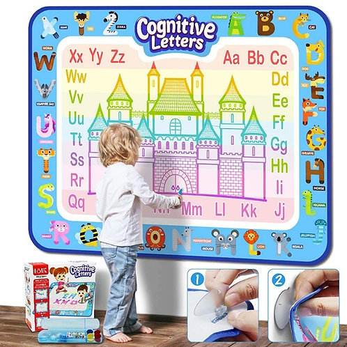 Water Drawing Mat Educational Game Girls Painting Toys Creative Kid Coloring