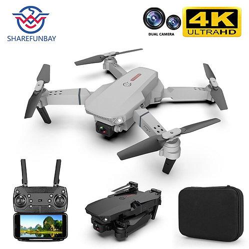 Mini Drone E88 Pro 4k HD Dual Camera Visual Positioning 1080P WiFi FPV