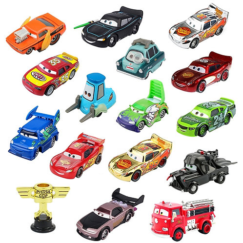 Disney Pixar Cars 2 3 Lightning McQueen Piston Cup Diecast Vehicle Hot Toys