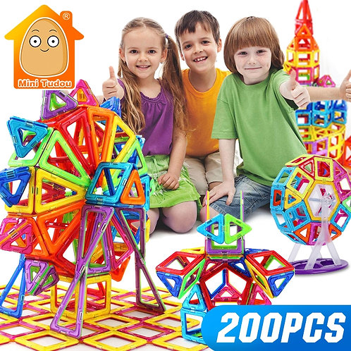 Mini 200pcs-46pcs Magnetic Designer Constructor Toy for Boys Girls