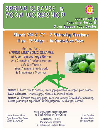Spring Cleanse & Yoga Workshop with gre