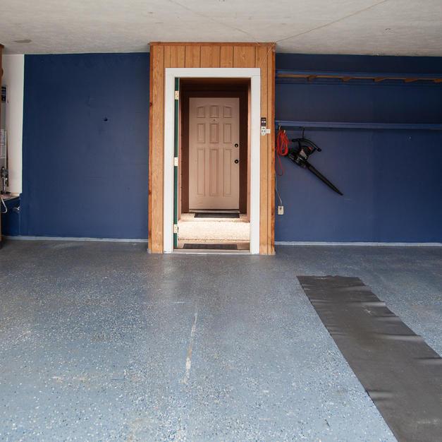 Garage, door to breezway & front door.