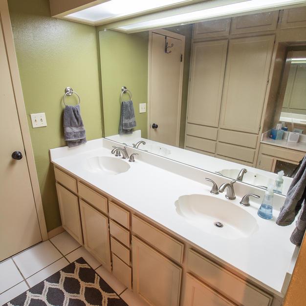Master bath double sinks.