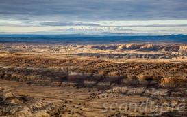 Angel Peak Scenic Area w/ San Juan Mtns., NM, Fine Art Photography, Landscapes, Sean Dupre', Lufkin, Tx.