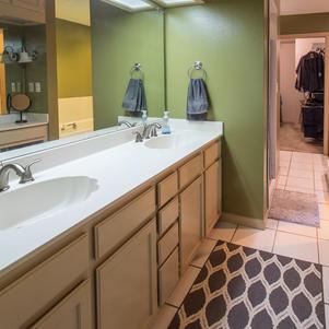 Master bath, double sinks.