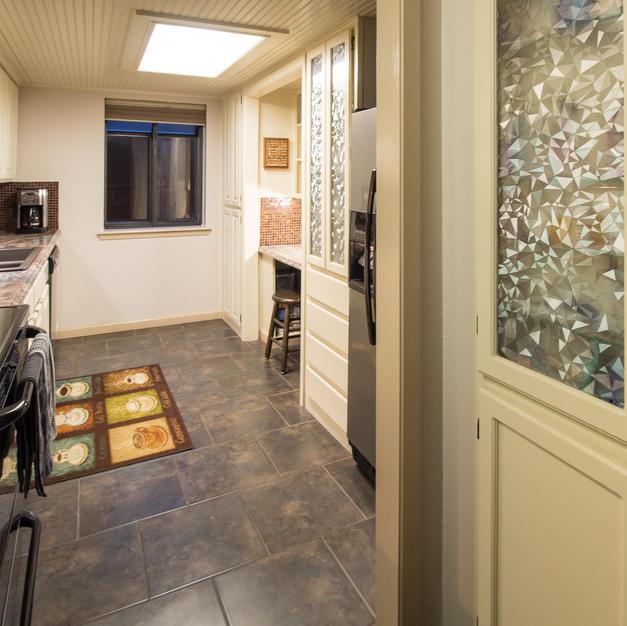Kitchen nook cabinets.