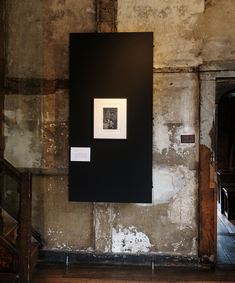 The Sleep of Integrity Invalidates Reason on display at the National Trust Sutton House, 2012.