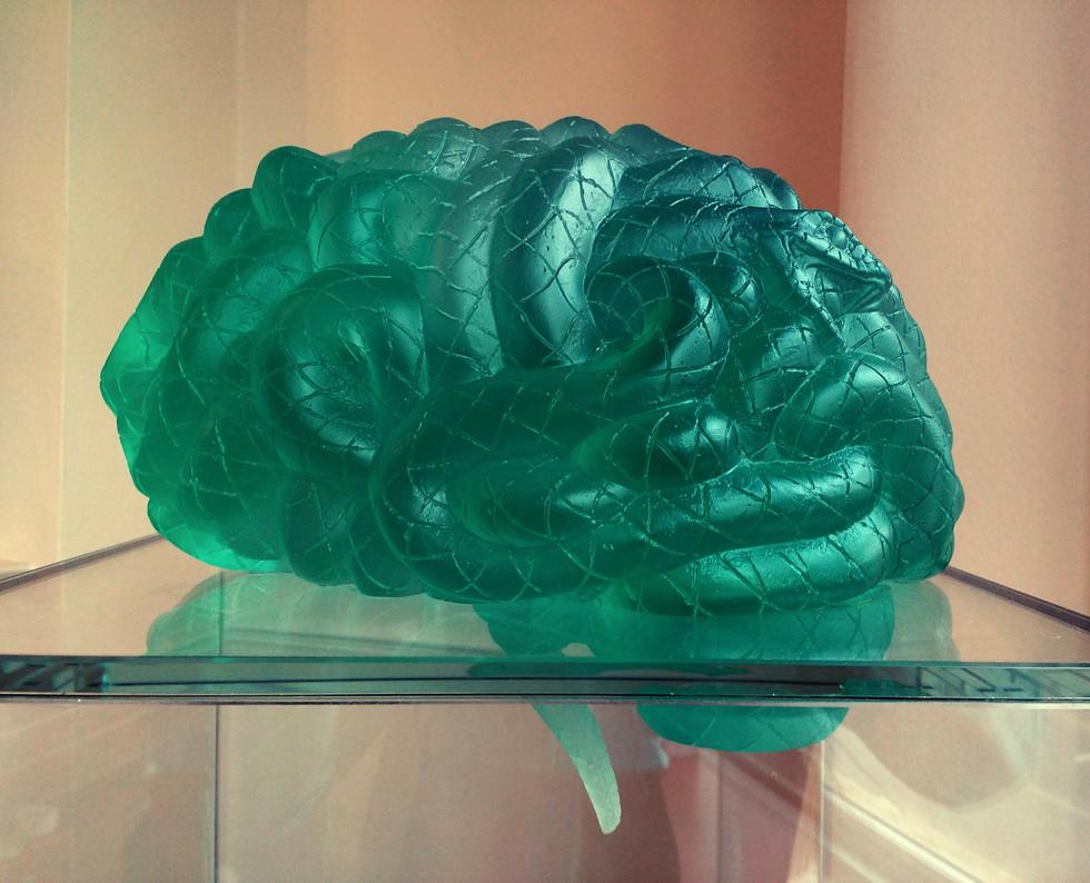 Medusa (detail) , lead crystal glass, 2012, 156 x 35 x 31 cm