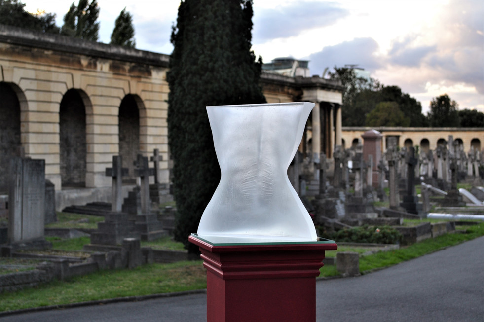 Veins of Vanity II on display at Brompton Cemetery, 2016.