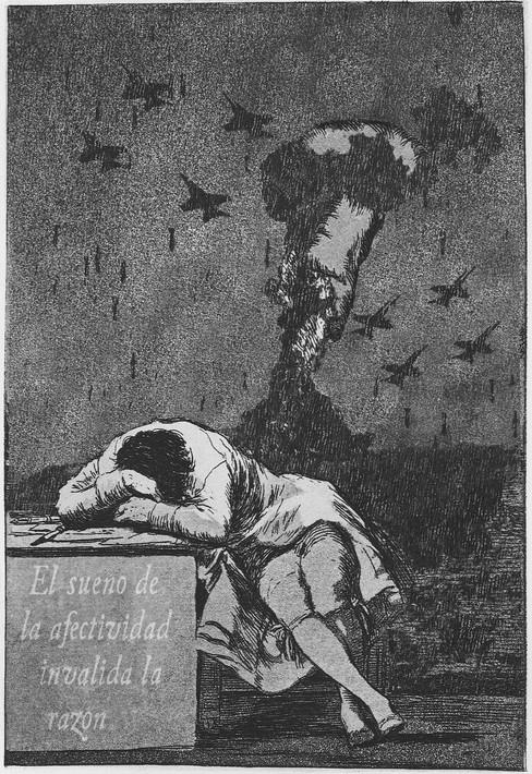 The Sleep of Integrity Invalidates Reason (after Goya), 2011.