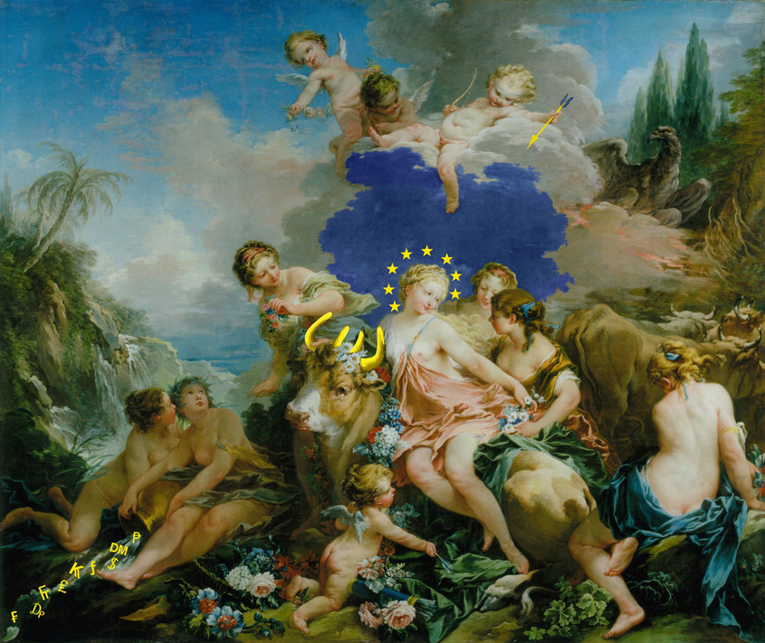 The Rape of the Eurozone (after Boucher), 2013.