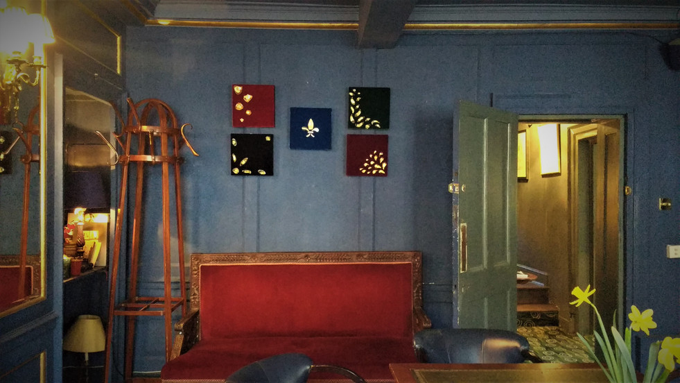 Decadence series on display at Upstairs at L'Escargot Members Club, London.