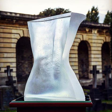 Veins of Vanity II, optical glass, 40.5 x 30.5 x 20 cm, 2011.