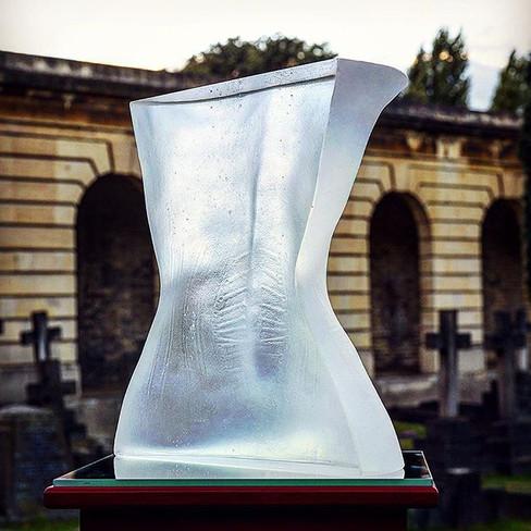 Veins of Vanity II, optical glass, life-size, 2011.