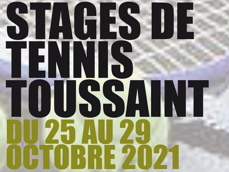 Stage tennis de la Toussaint