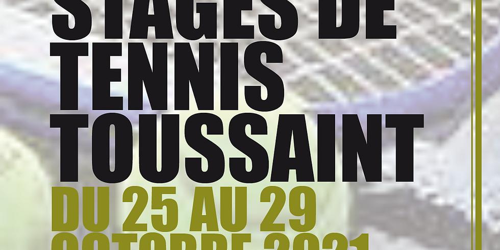 Stage tennis Toussaint 2021