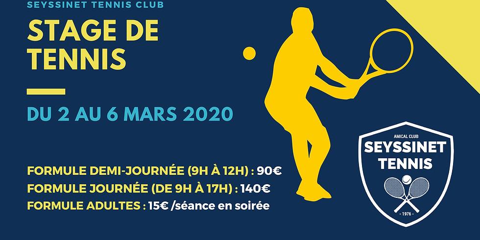 Stage de tennis (2 au 6 mars)