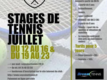 Le programme tennis de l'été 2021 à Seyssinet