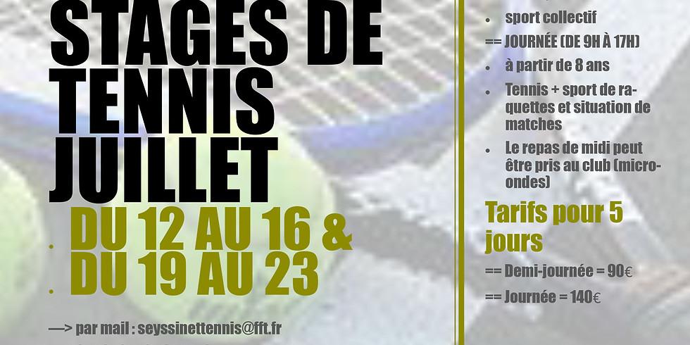 "Stages tennis ""jeunes"" - semaine 1"