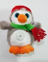Peluche musicale pingouin de noel Gipsy 16cm