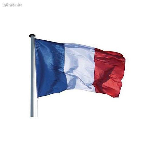 DRAPEAU / tricolore bleu, blanc, rouge 120 X 180cm