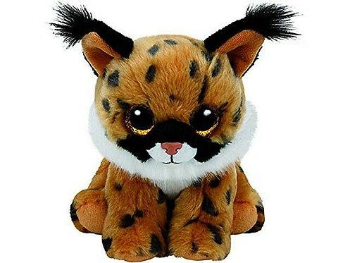 - TY41205 - Beanie Babies - Peluche Larry le Lynx 15 cm