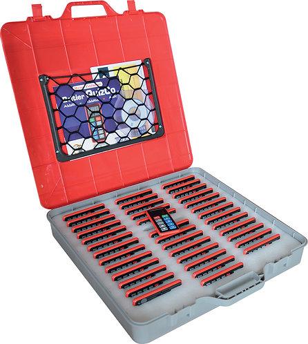 La valise QUIZCO de 40 boîtiers pour les tests de sécurité routière