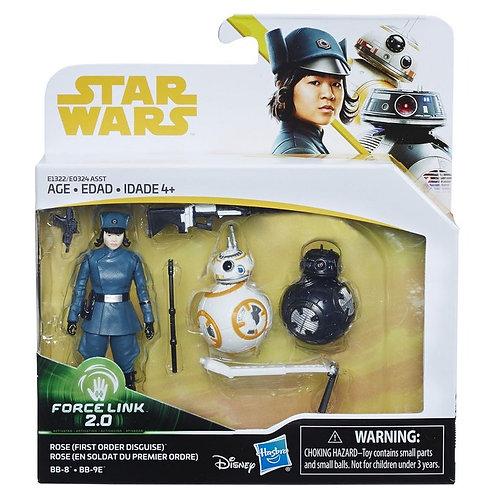 STAR WARS Figurine 10cm rose bb8 et bb9