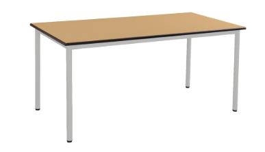 table malibu pommier/alu 140 x 80 hauteur 76