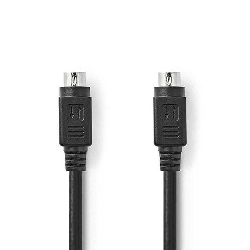 Câble S-Vidéo | S-Vidéo Mâle - S-Vidéo Mâle | 5,0 m | Noir