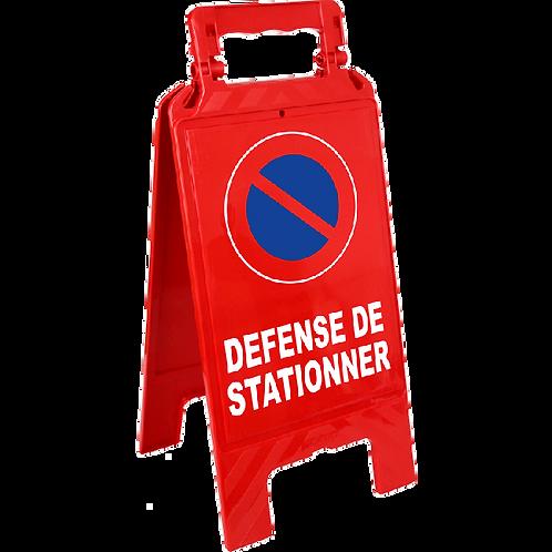 """Chevalet de signalisation """"Défense de stationner"""""""