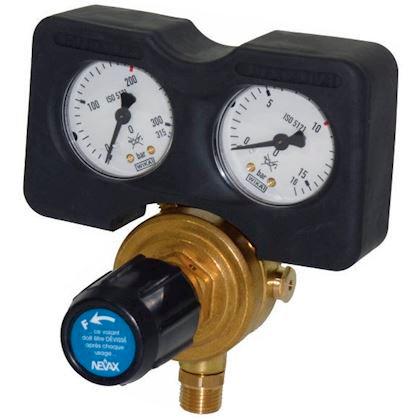 Détendeur avec 2 manomètres : pression Bouteille et utilisation