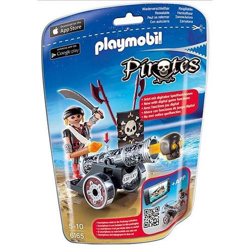 PLAYMOBIL 6165 - Flibustier avec canon noir