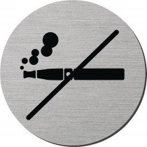 Plaque signalétique rigide ronde - Interdit de vapoter
