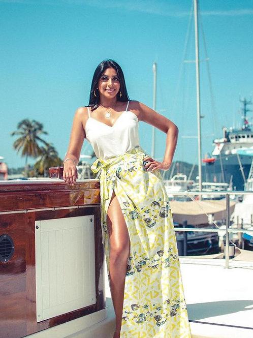 BC- Printed Wrap Skirt