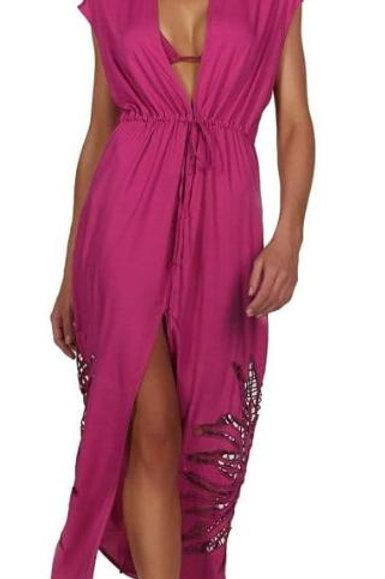 Vix- Solid Embroidery Pamela Jaipur-Pink