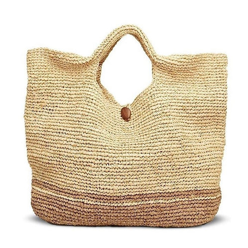 Beach Bag-Natural & Tan